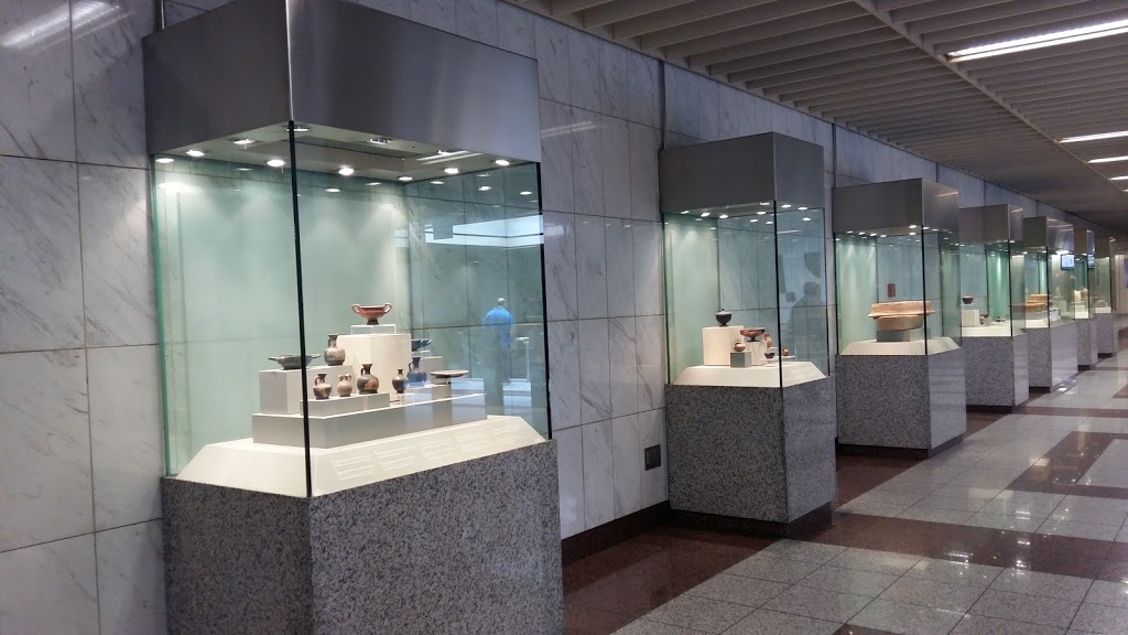 Archaeological exhibition inside the Athens metro system