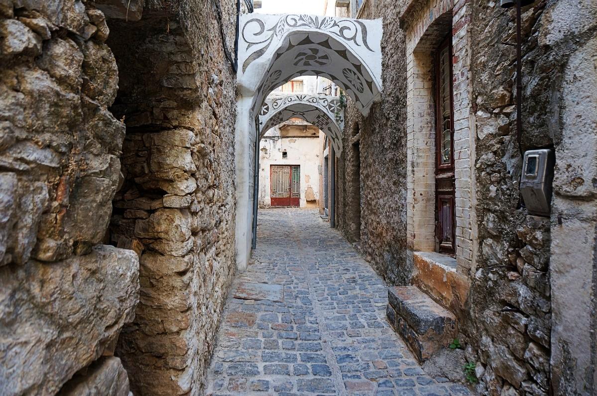 Mastic village in Chios island Greece