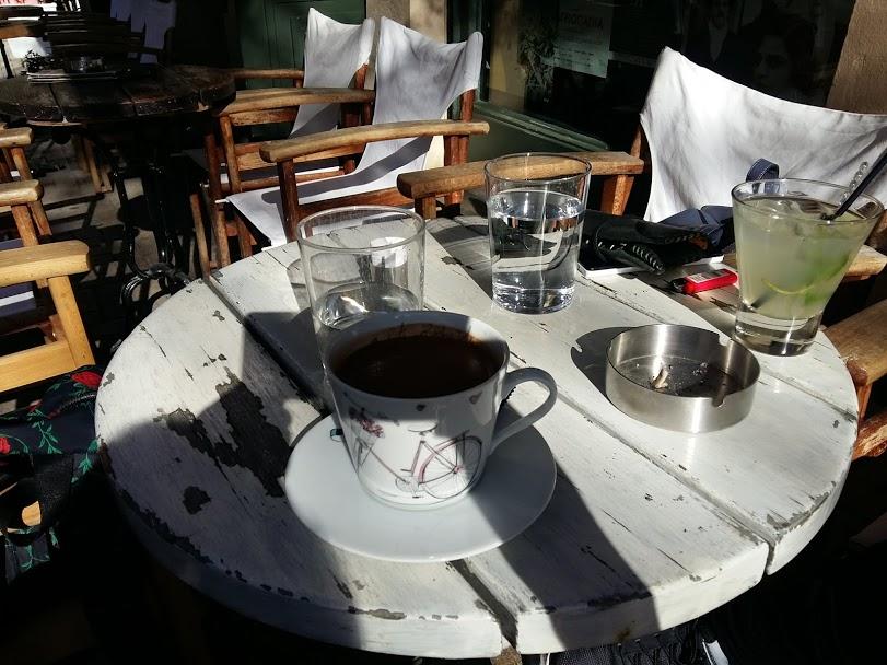 Having coffee in Psiri Athens