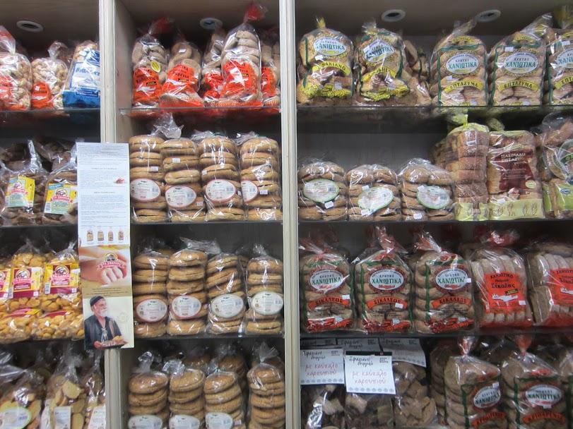 Varvakios food market Athens - Cretan rusks