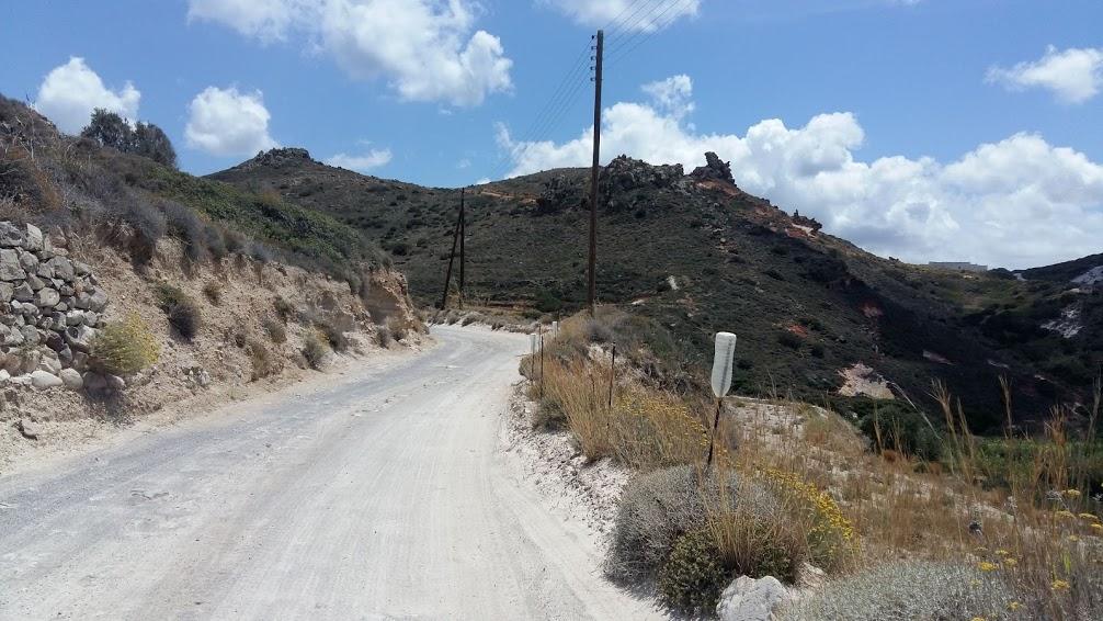 Driving in Greece - Dirt road in Milos Greece