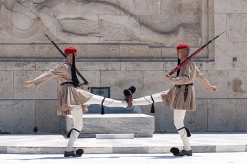 Evzones in Athens - Changing of the Guards