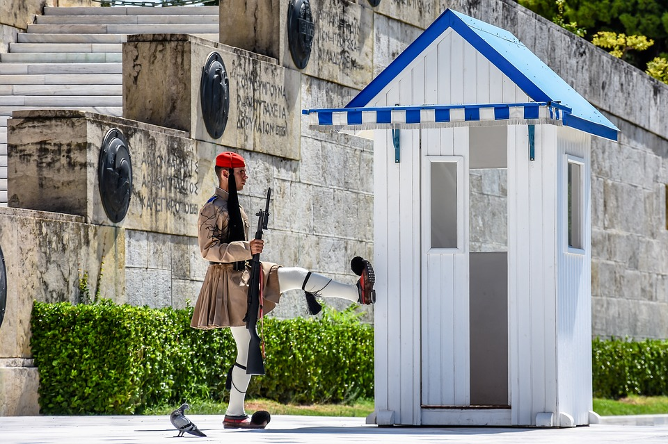 A Greek Guard at Syntagma Square Athens