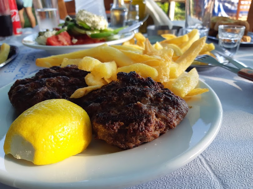 Island hopping in Greece on a budget - Taverna food
