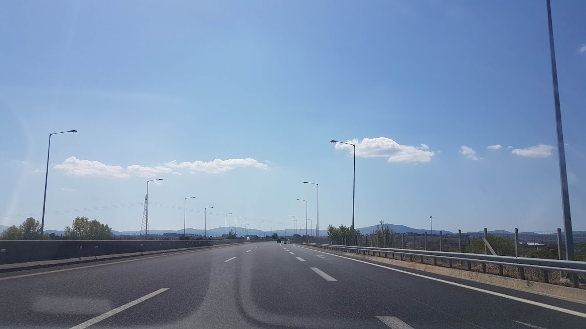 Driving in Greece - A highway in Greece