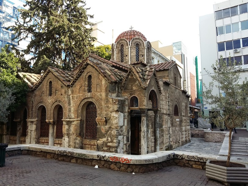 Free things to do in Athens - Kapnikarea church on Ermou