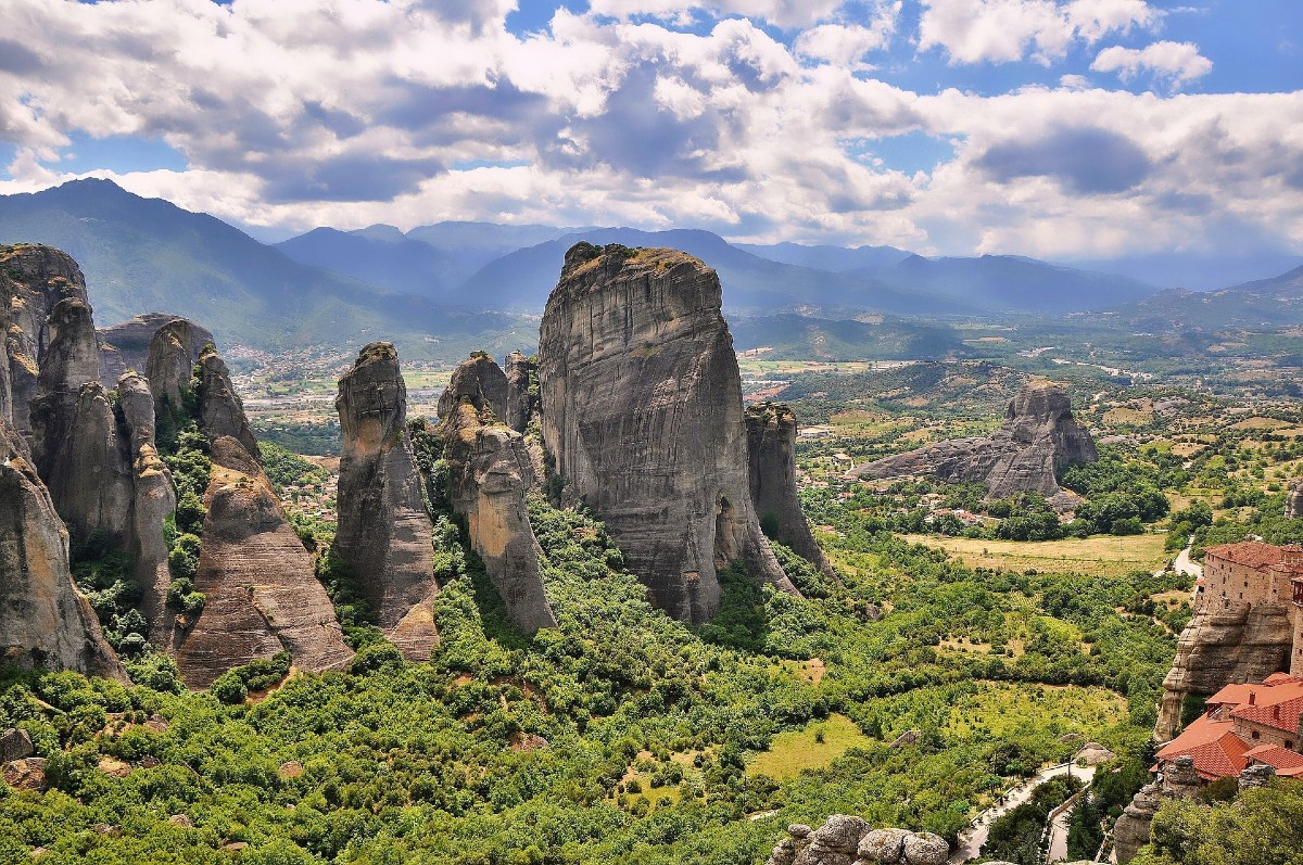 Greece Meteora panoramic view