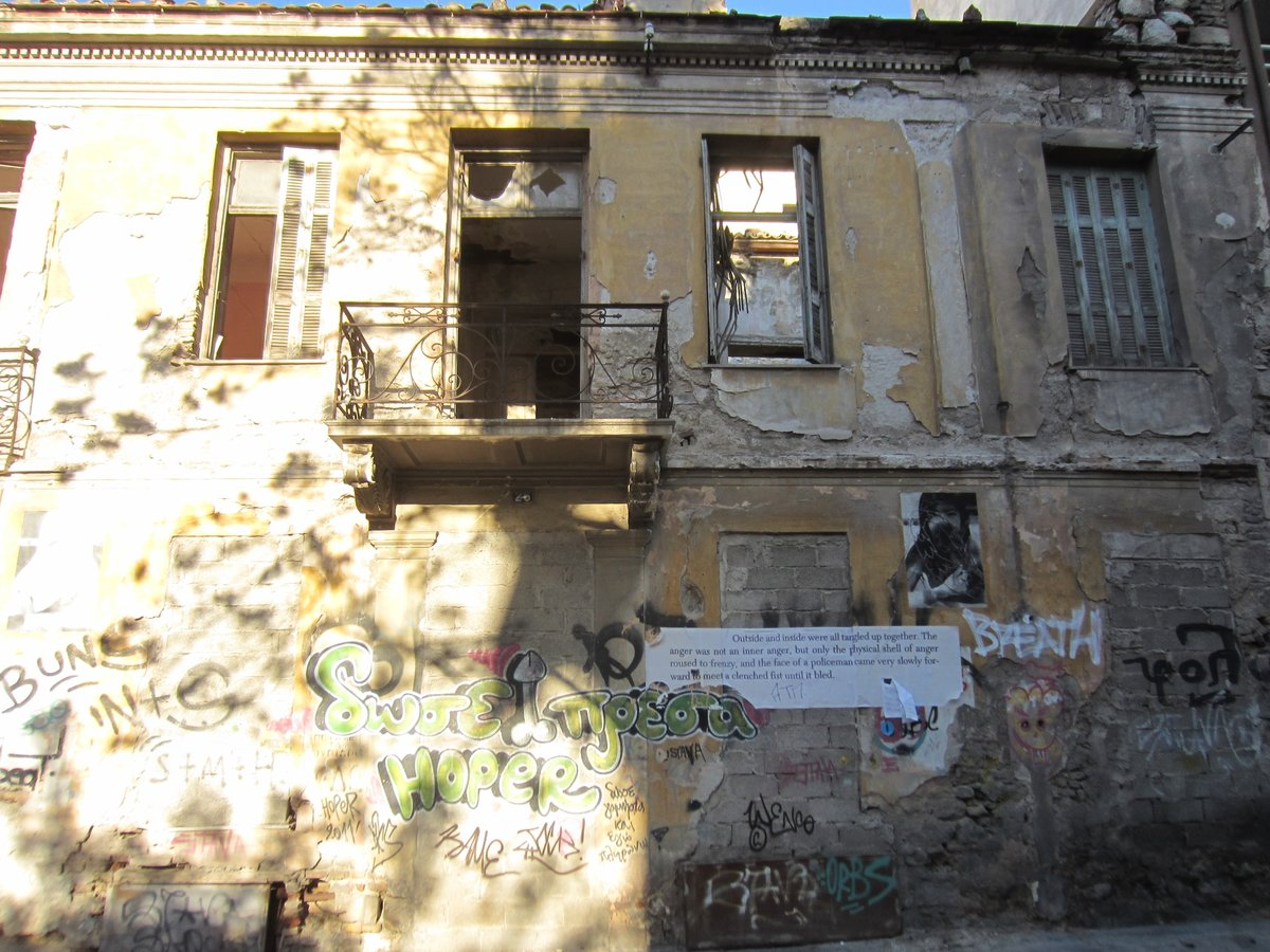An abandoned building in Psyrri Athens