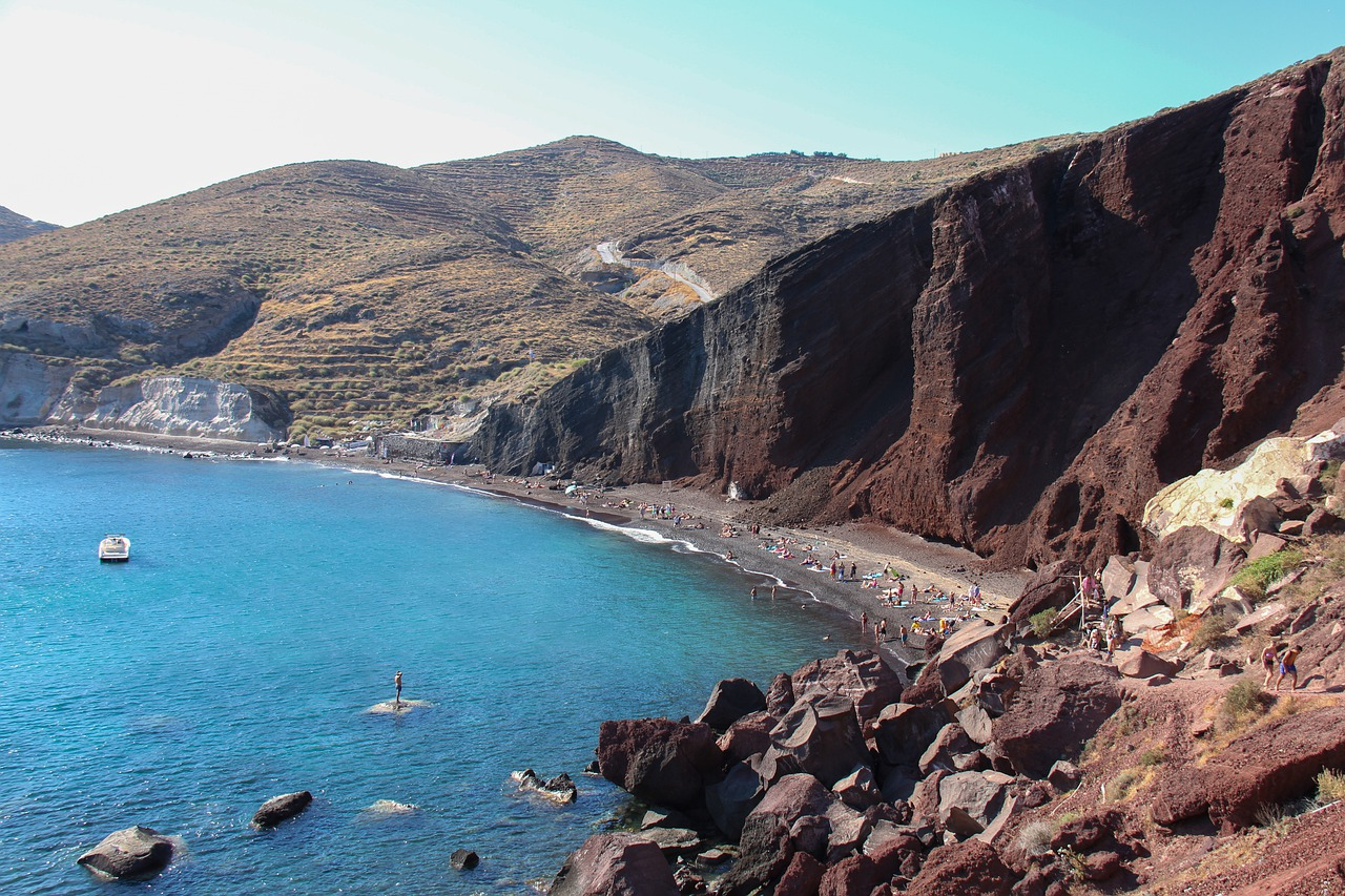 Red beach in Santorini - Should I visit mainland Greece, or the islands?