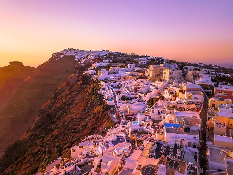 2 weeks in Greece - Santorini sunset