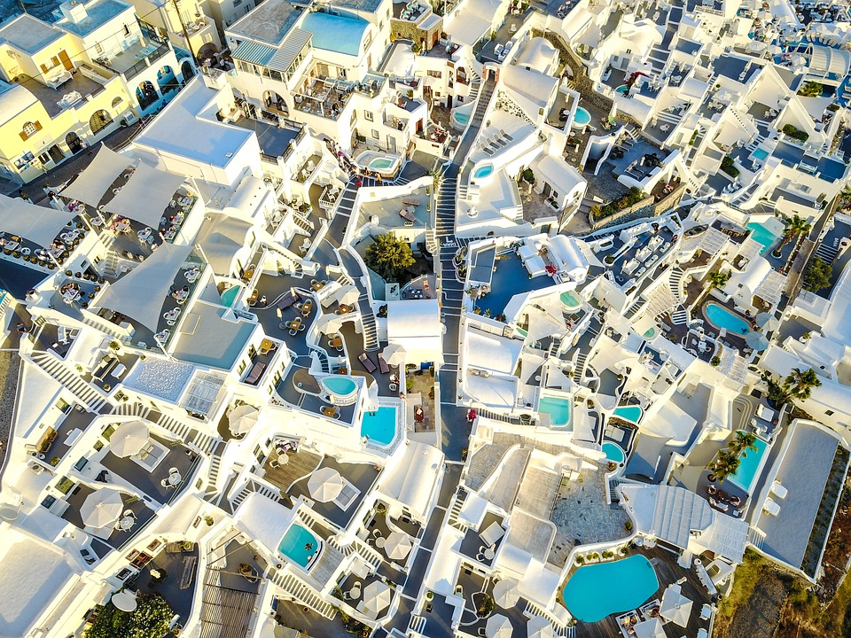 How many days in Santorini - View of Santorini from above