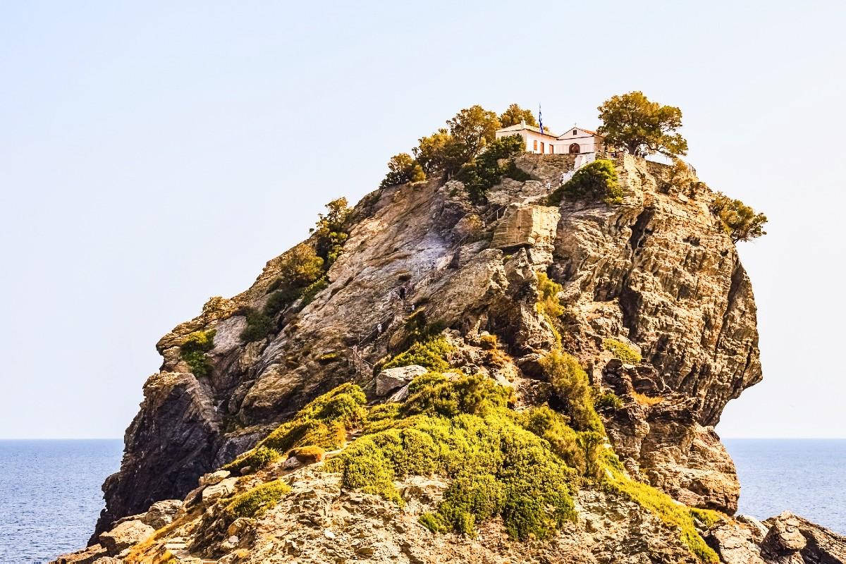 Kastri church in Skopelos Greece