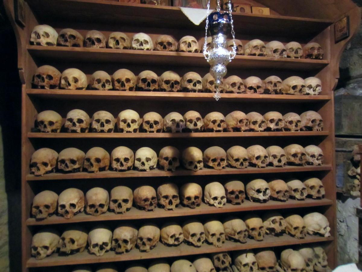 Skulls in Meteora Monastery