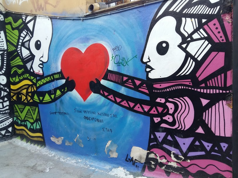 Free things to do in Athens - Street art in Anafiotika