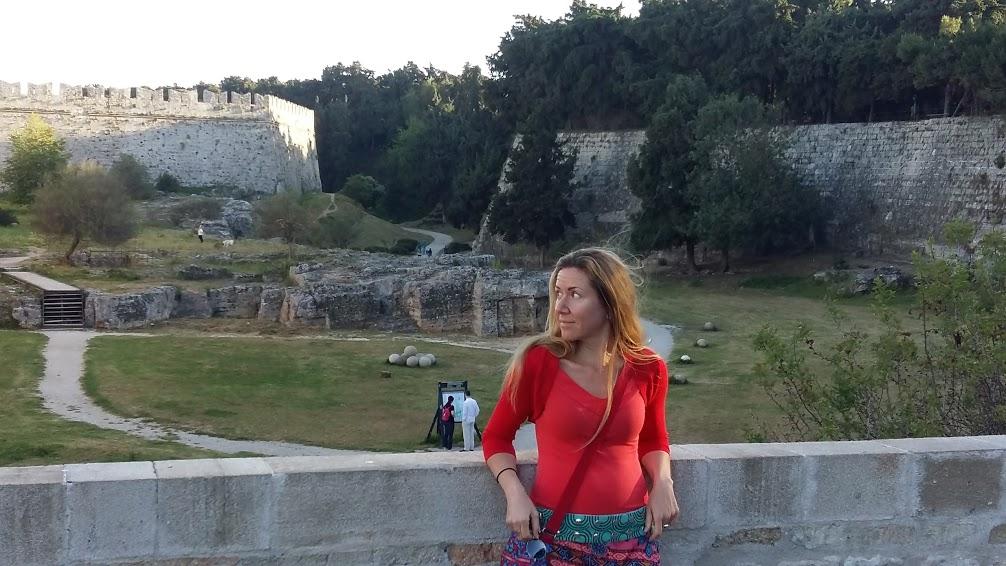 Vanessa on the Greek island of Rhodes