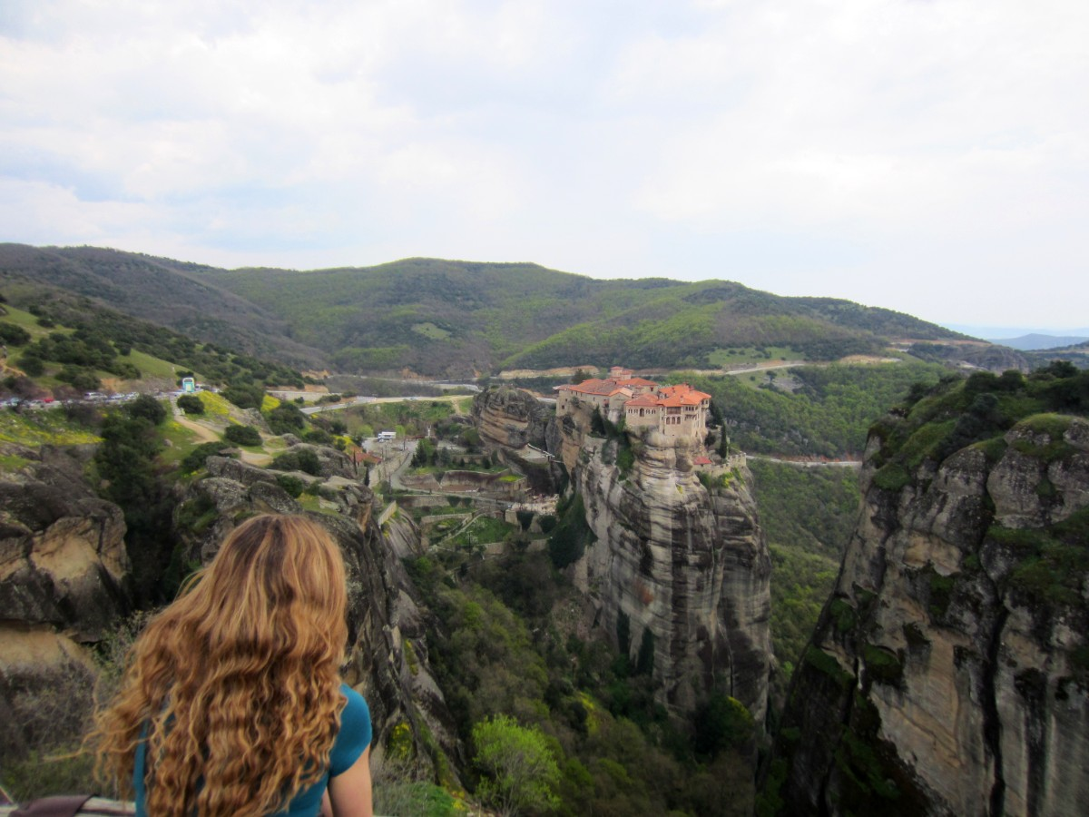 Amazing views over Meteora rocks