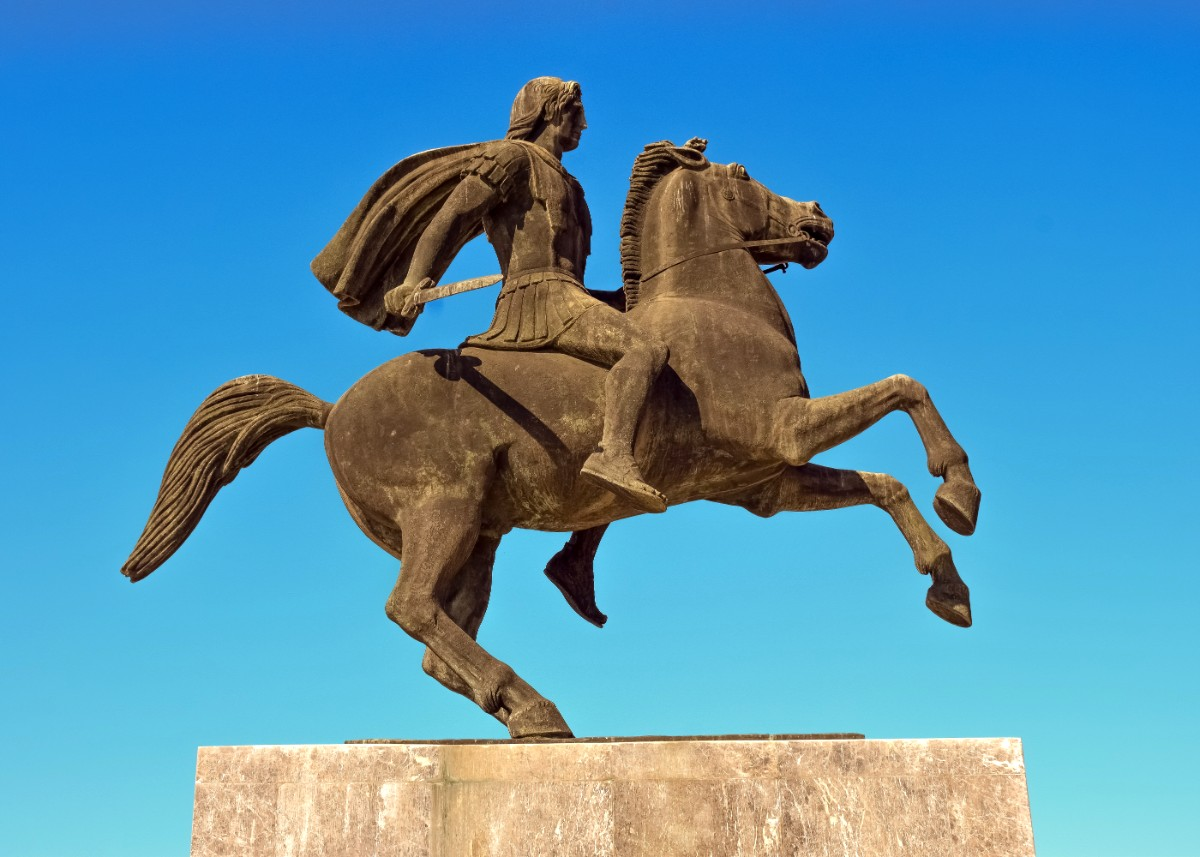 Statue of Alexander the Great in Thessaloniki, Greece
