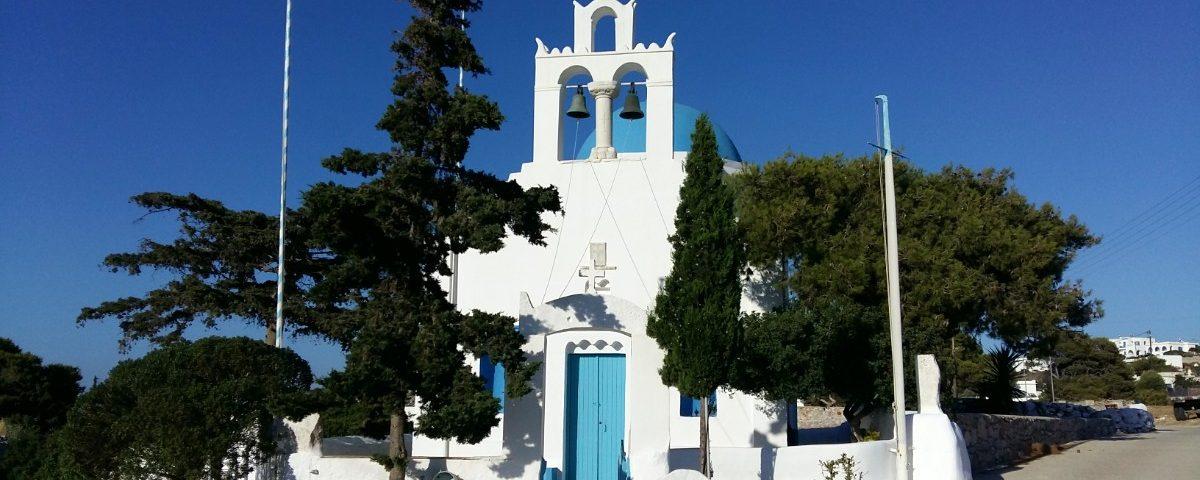 A church in the Cyclades, Iraklia island