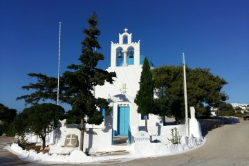 A church in the Cyclades, Iraklia island