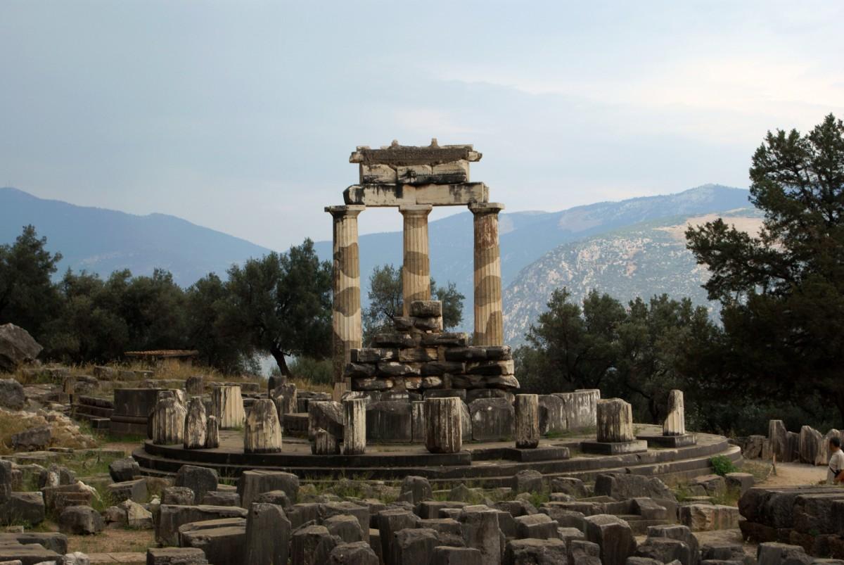 Tholos temple Delphi Greece