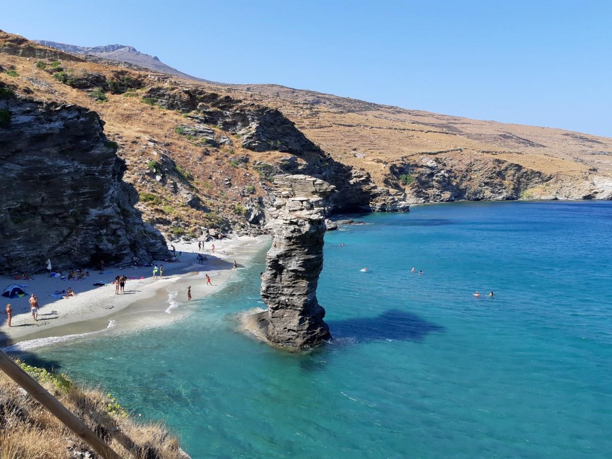 Grias to Pidima beach Andros Greece