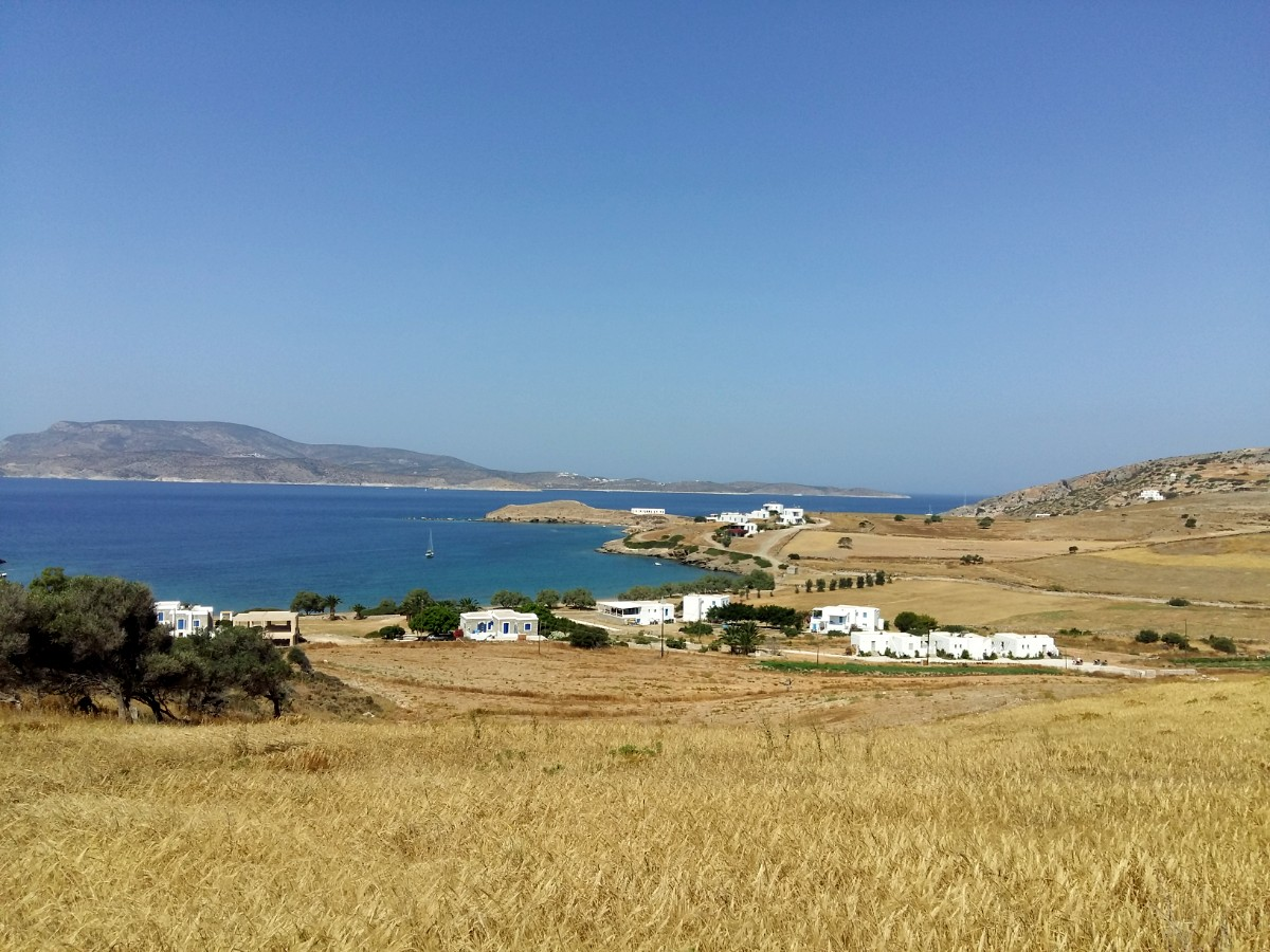 Walking on Schinoussa island Greece