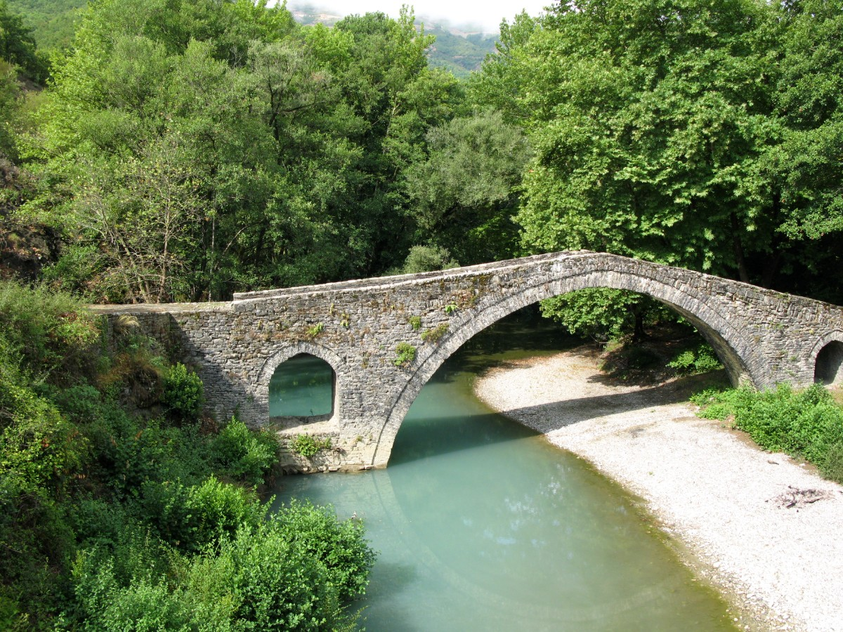 Epirus Greece stone bridge