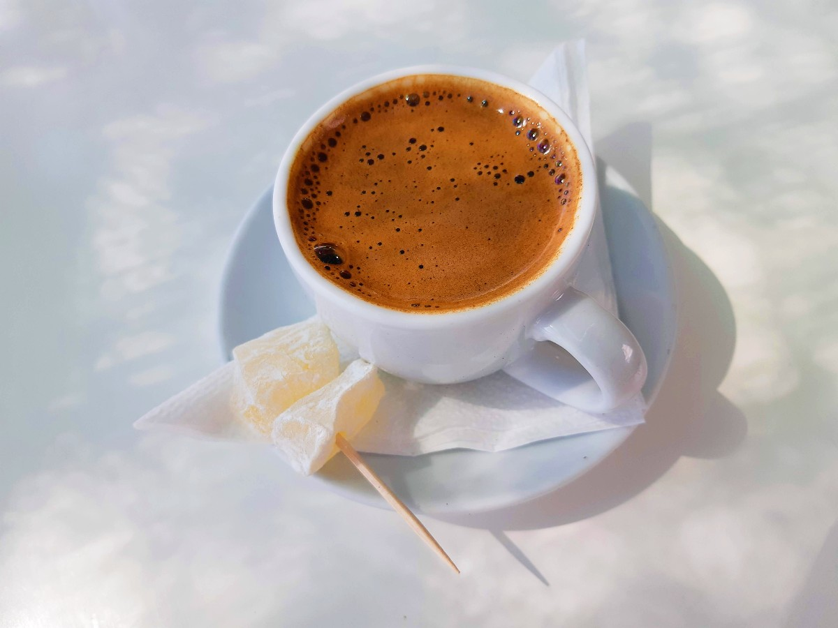 Buy a packet of Greek coffee as a souvenir from Greece