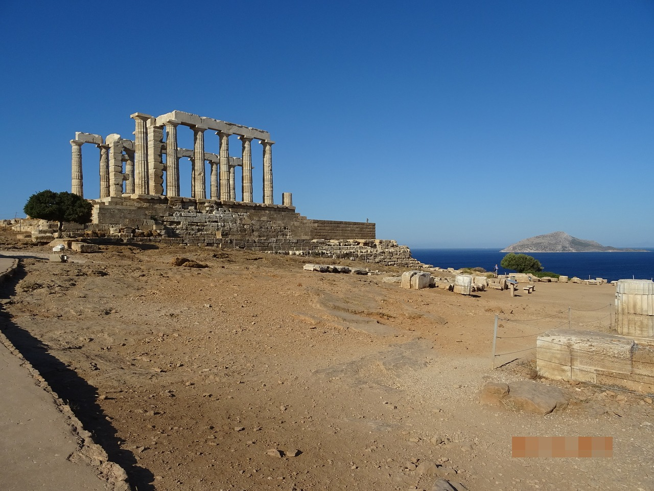 Visit the temple of Poseidon at Sounion