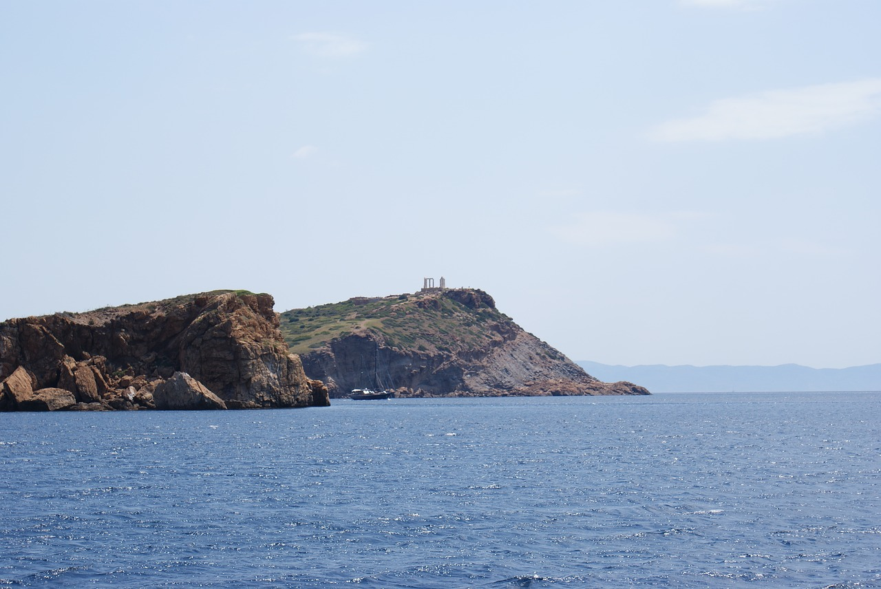 View of the temple of Poseidon