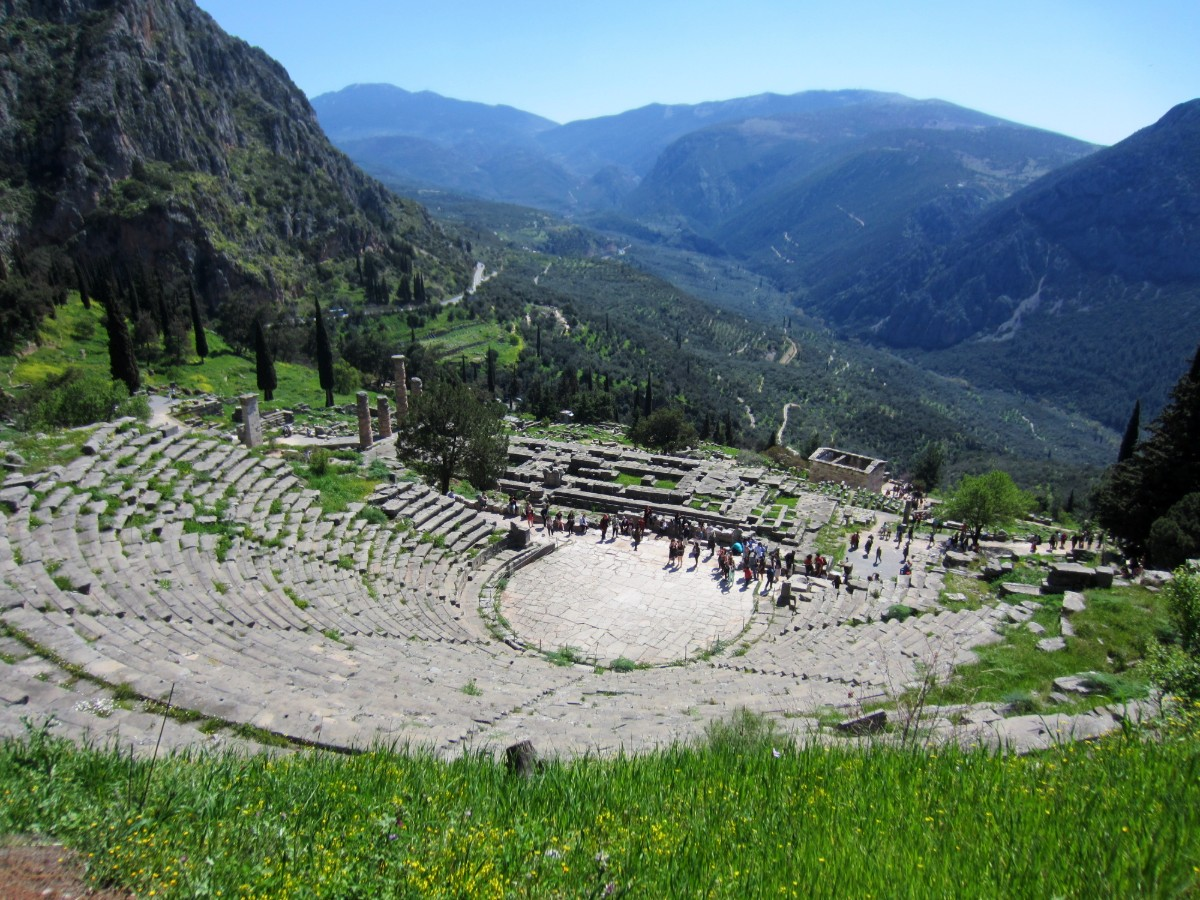 The amphitheatre in the Archaeological site of Delphi