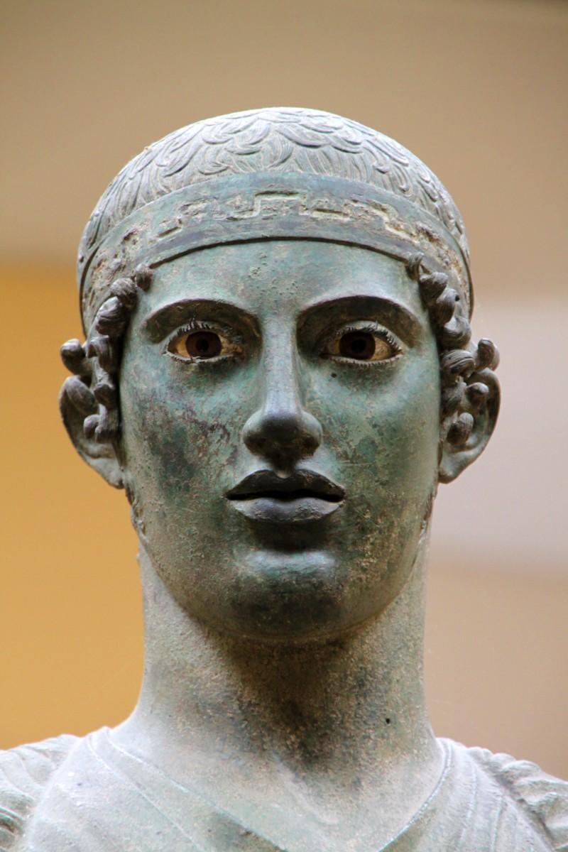 Charioteer bronze statue in Delphi
