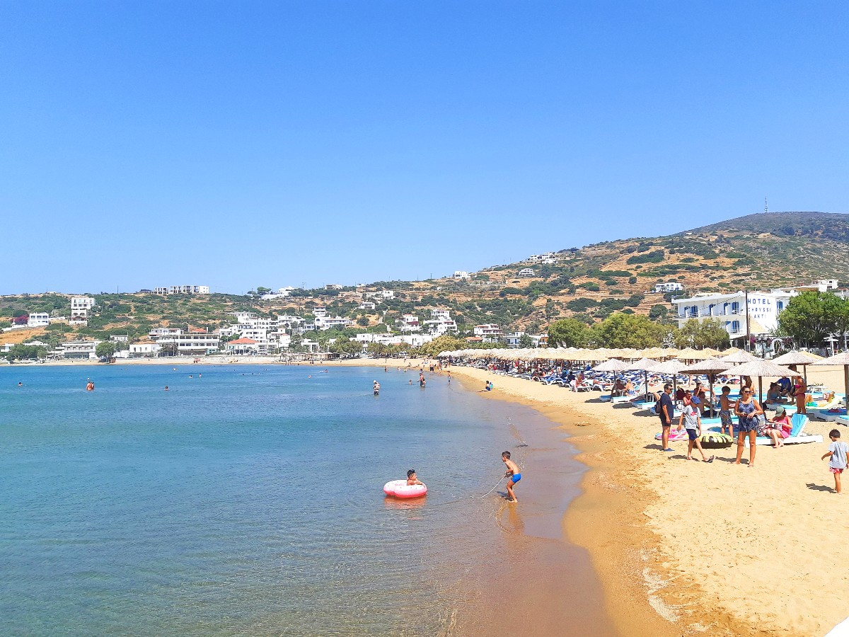 Batsi is one of the most popular Andros beaches