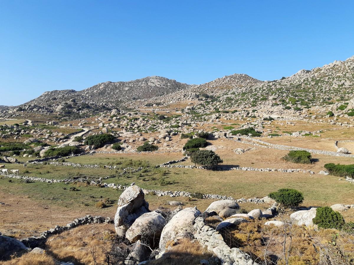 The unique boulders around Volax Tinos