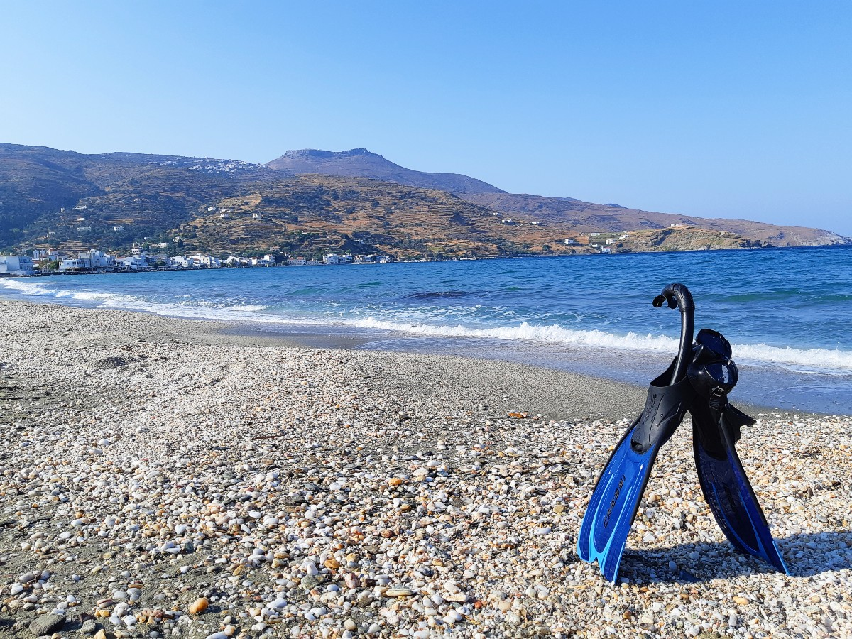 Things to do in Andros Greece - Relax on Korthi beach
