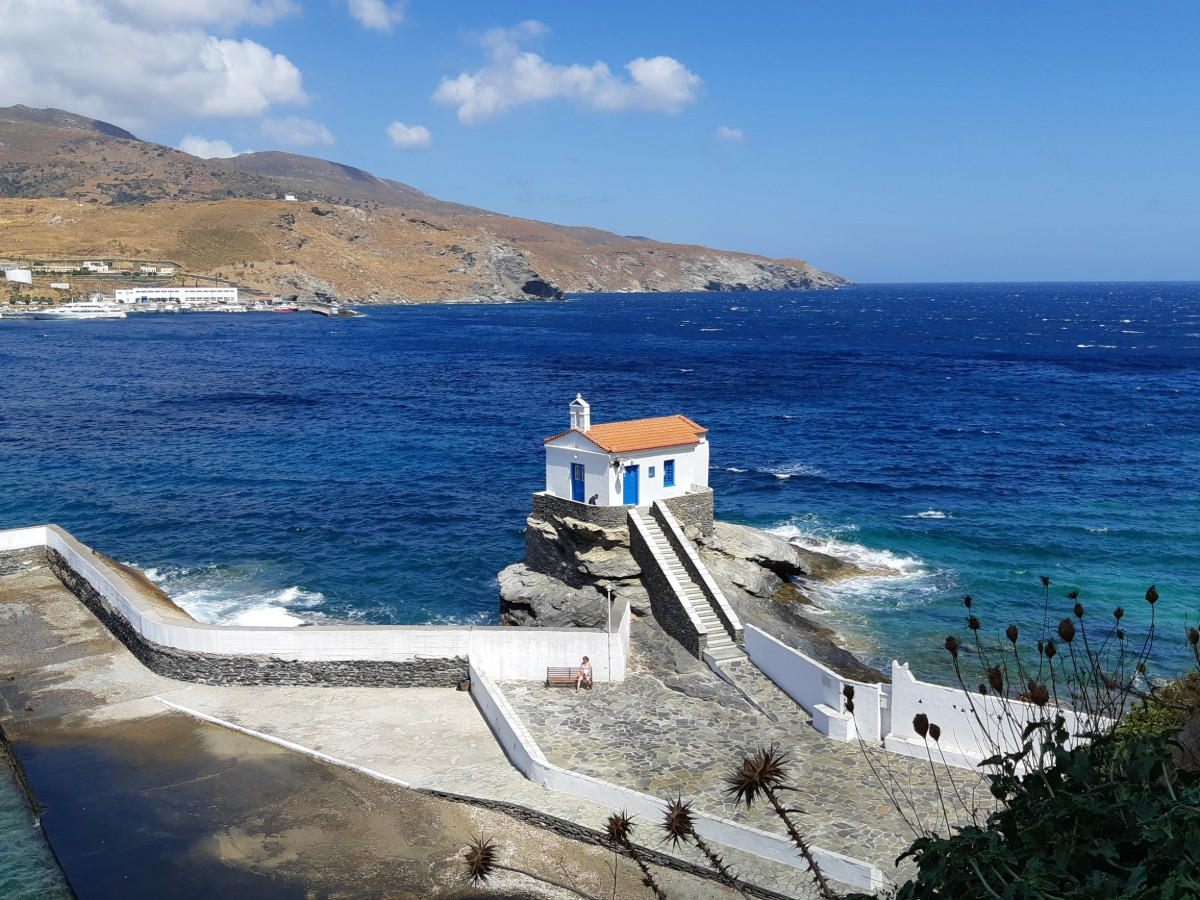 A church in Andros Greece