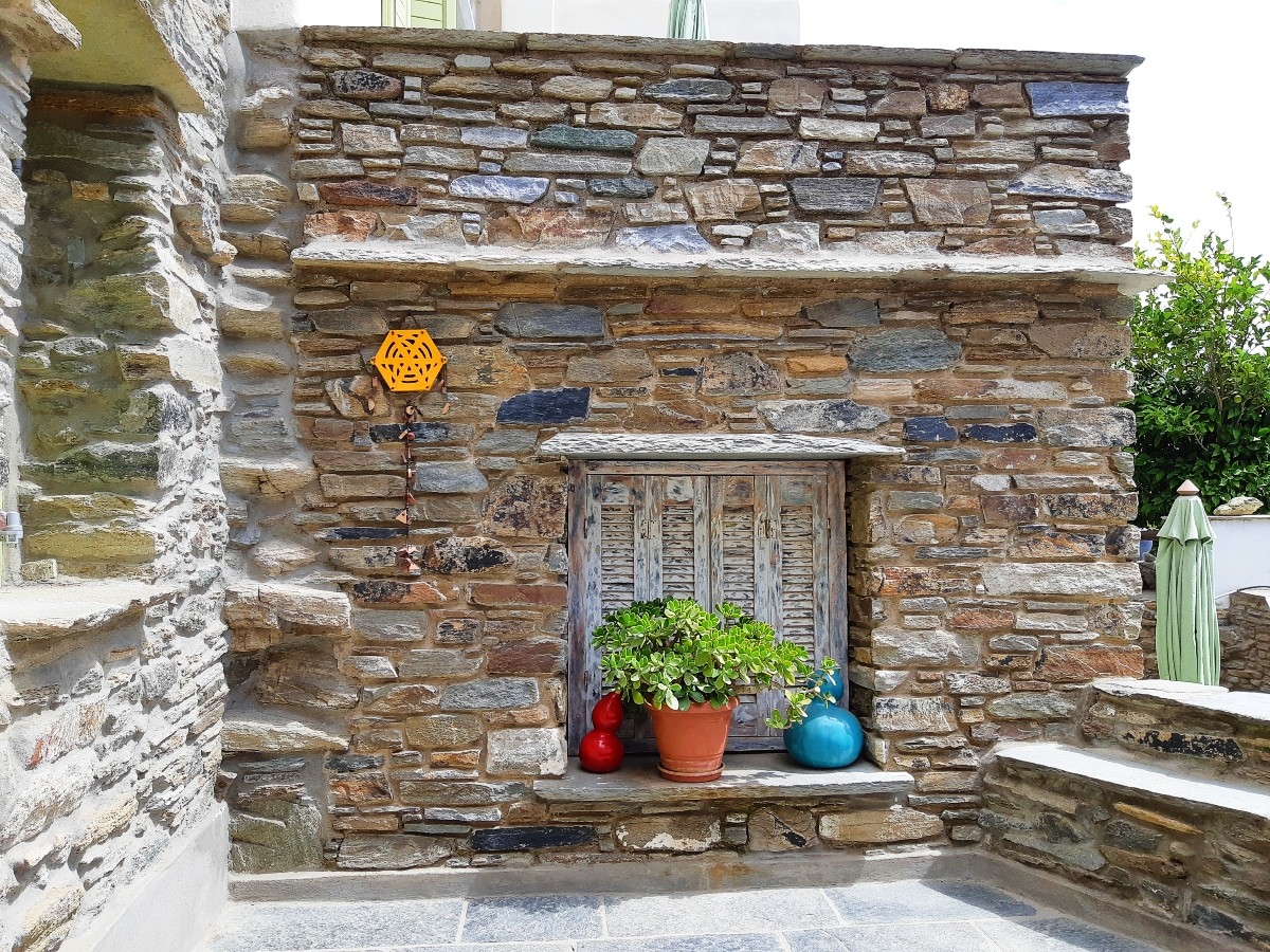 A stone house in Tinos Greece