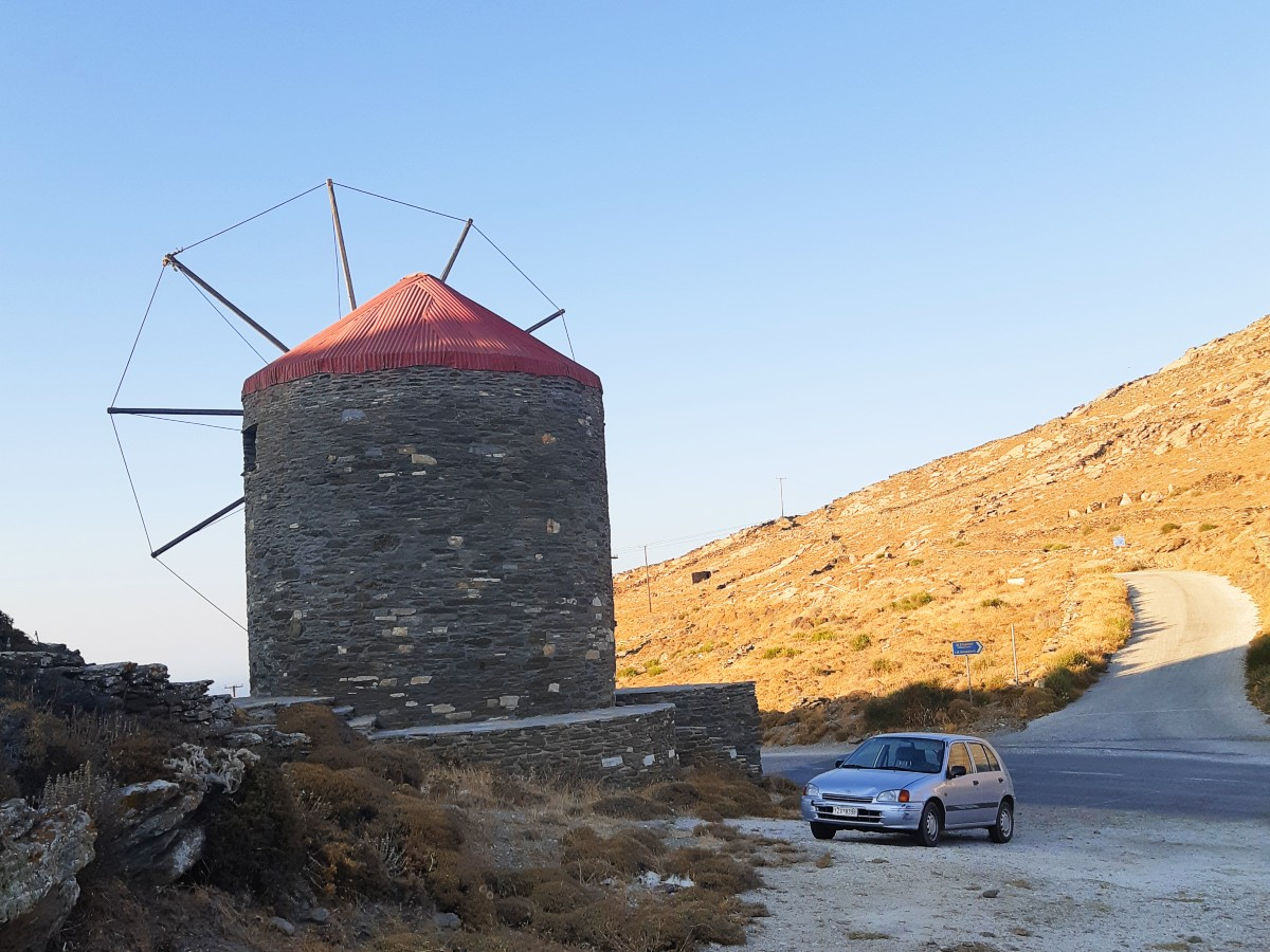 A windmill in Tinos island Greece