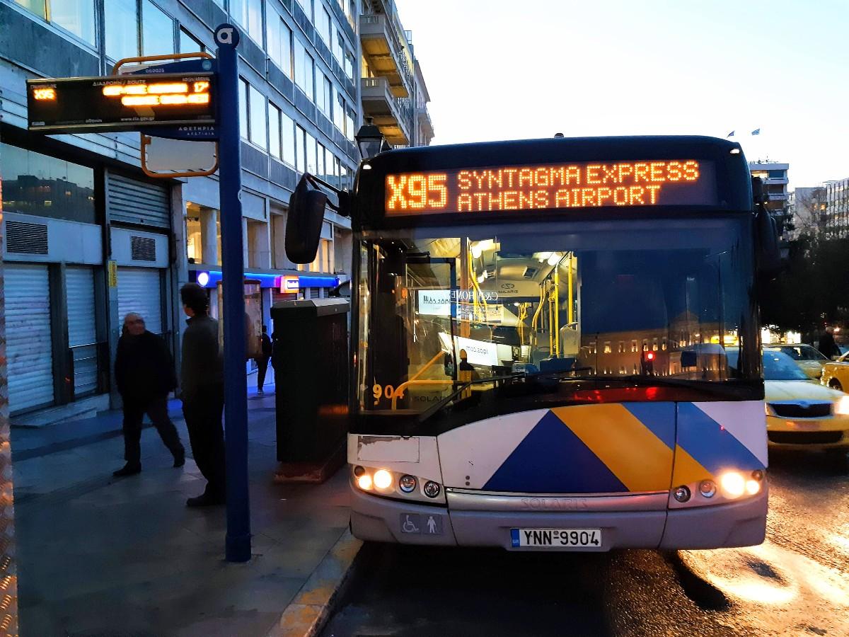 X95 bus Athens