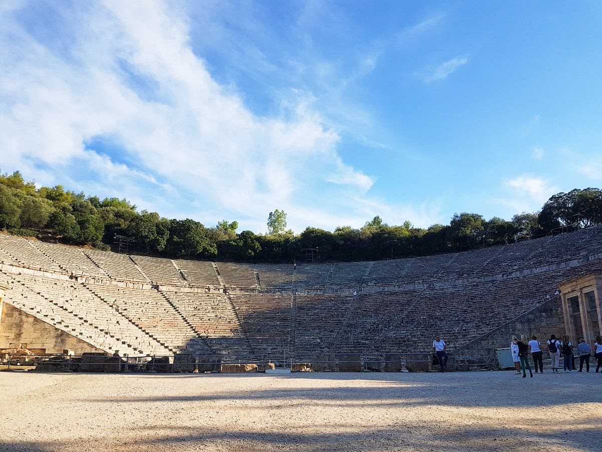 View of the ancient theatre in Epidaurus