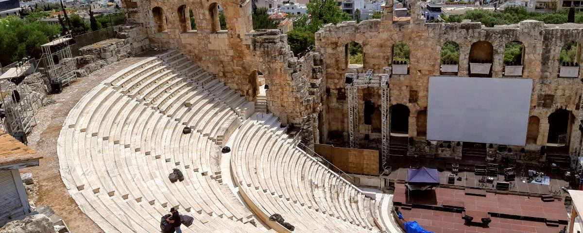 Herodion theatre Athens Greece