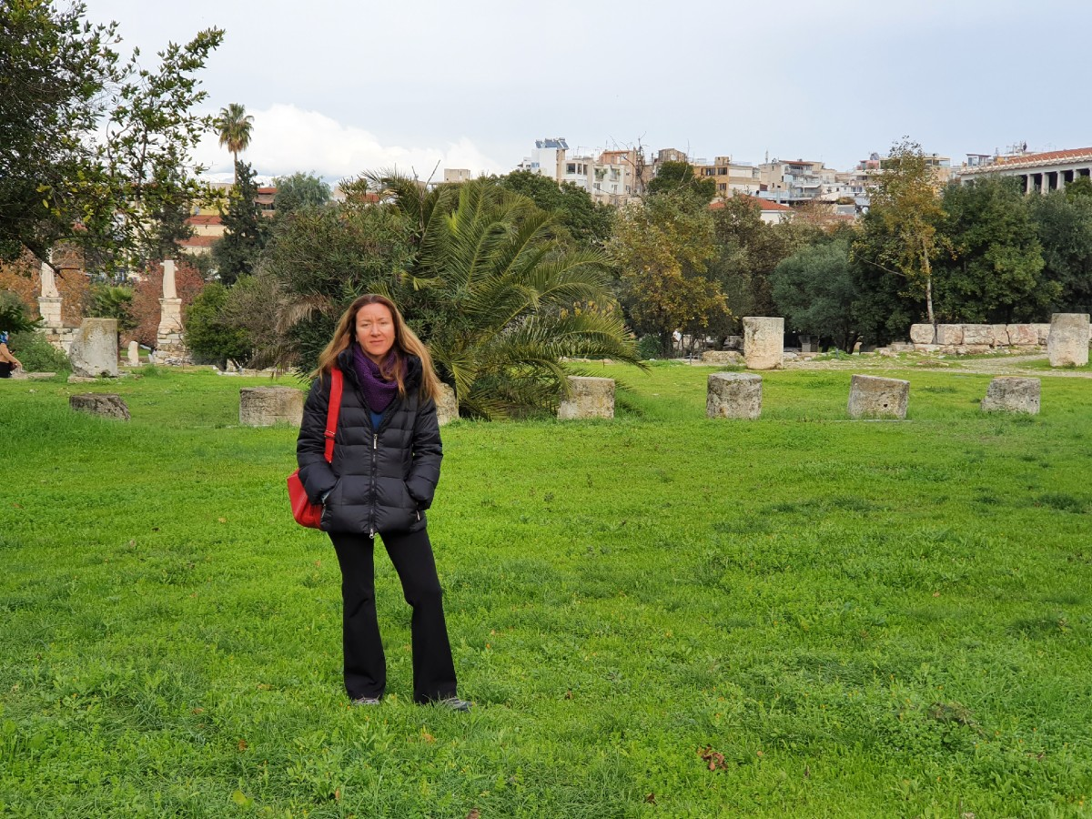 The Ancient Agora is a large green space