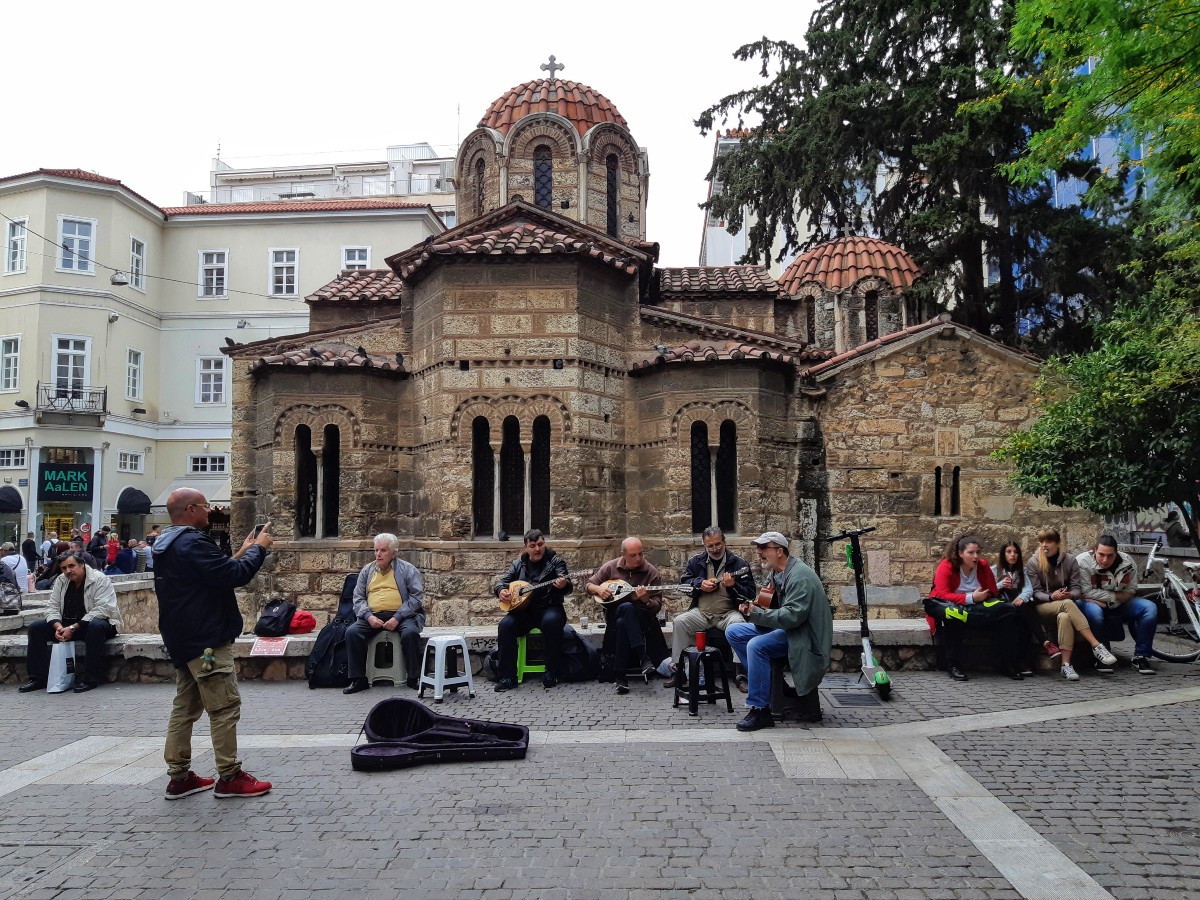 Kapnikarea Byzantine church Athens