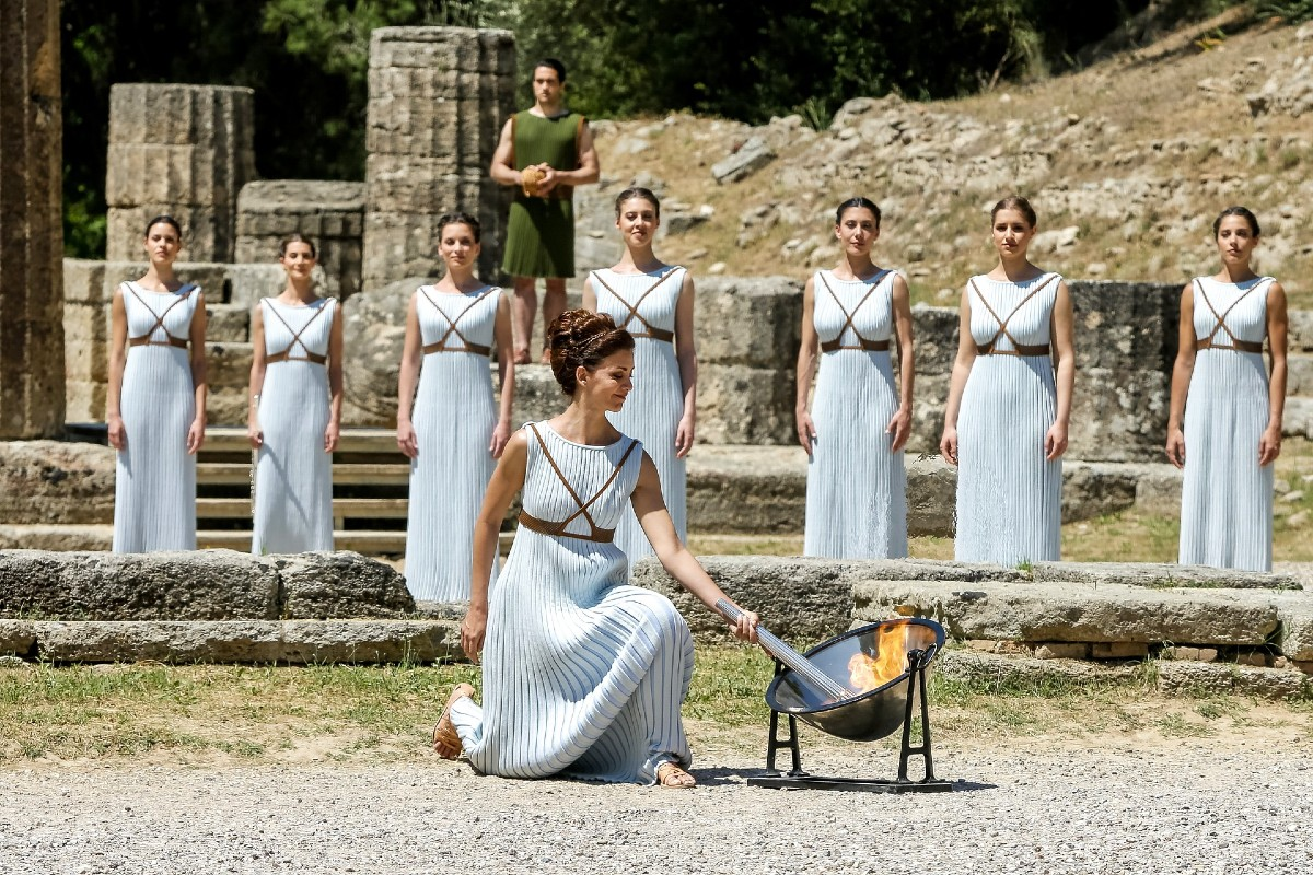 Olympia ancient Greece Olympic flame ceremony