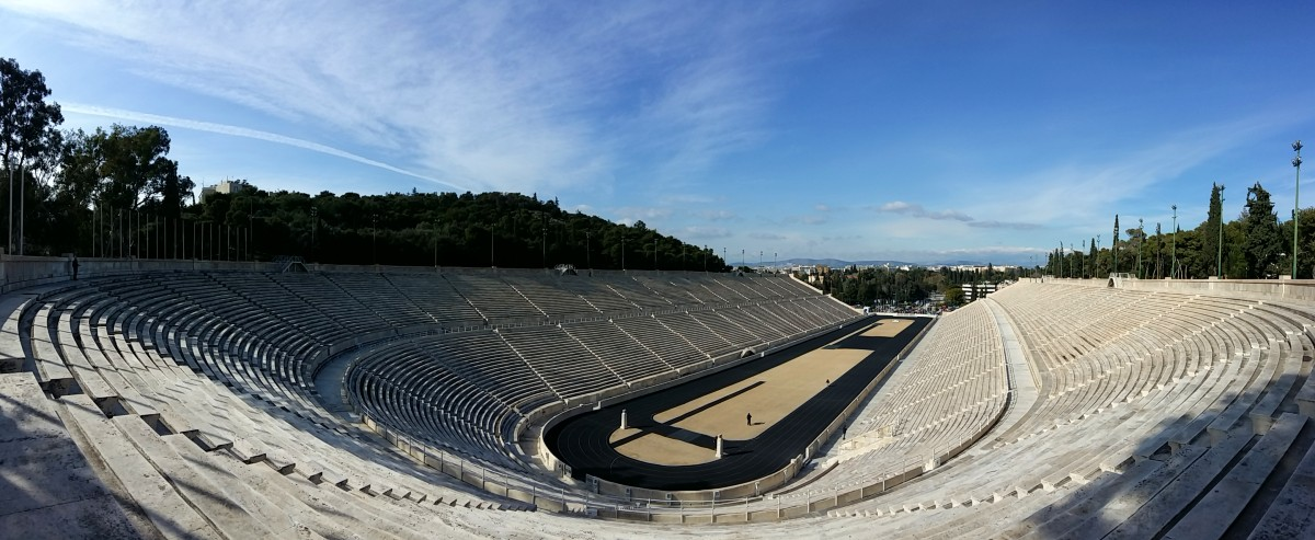A panoramic view of the Panathenaic Stadium