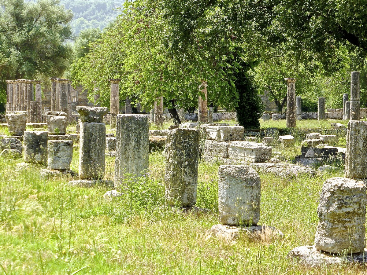 Ruins in the site of Ancient Olympia
