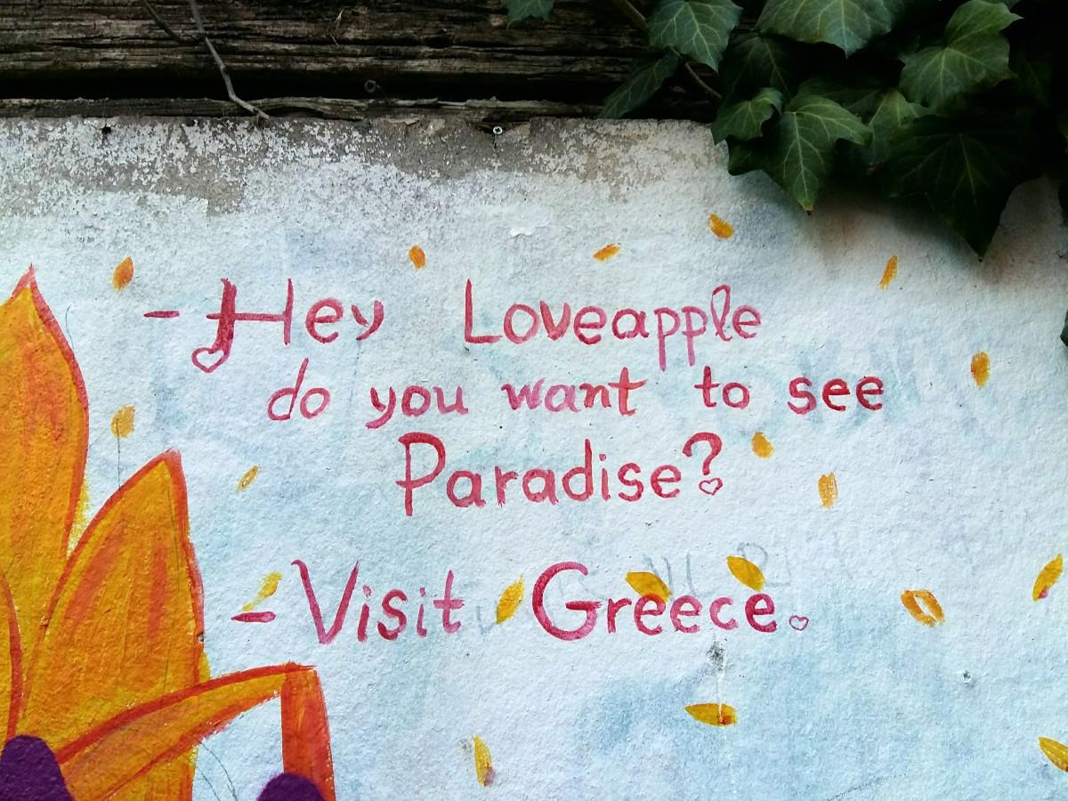 Cool street art in Plaka Athens