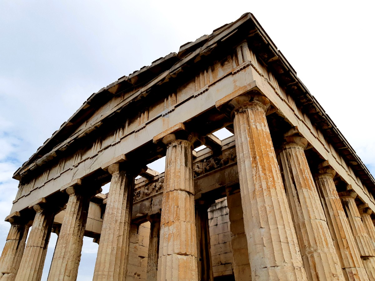 The temple of Hephaestus is the best preserved ancient temple in Greece
