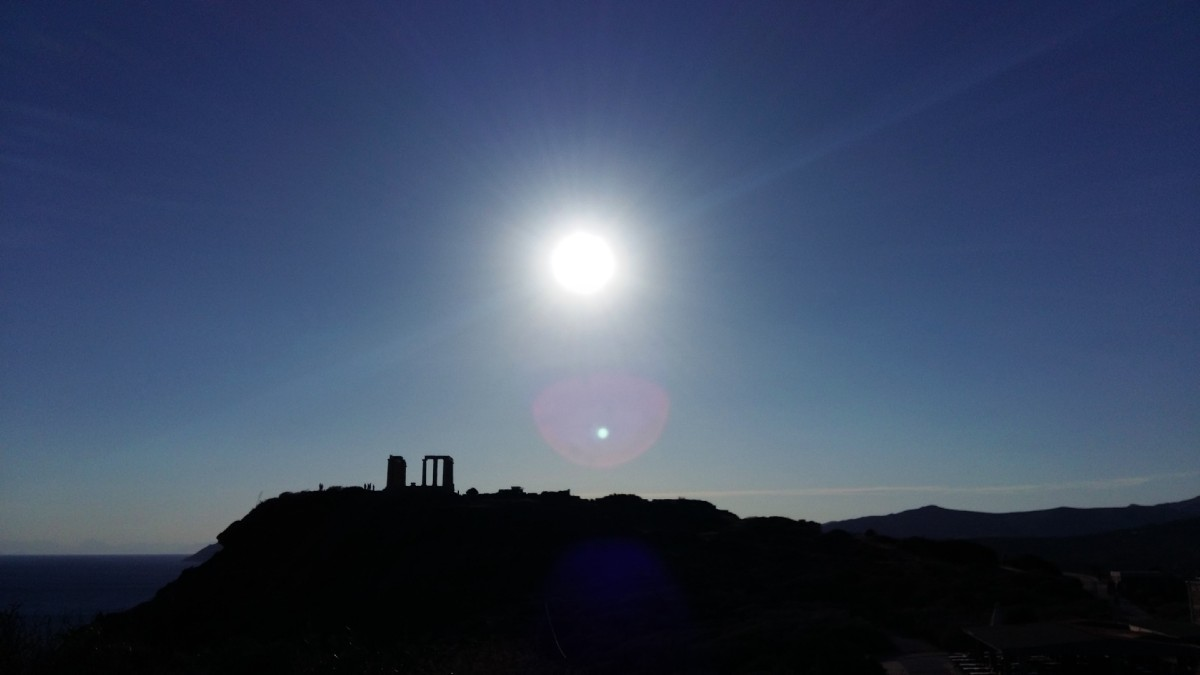 The temple of Poseidon is a half day trip from Athens