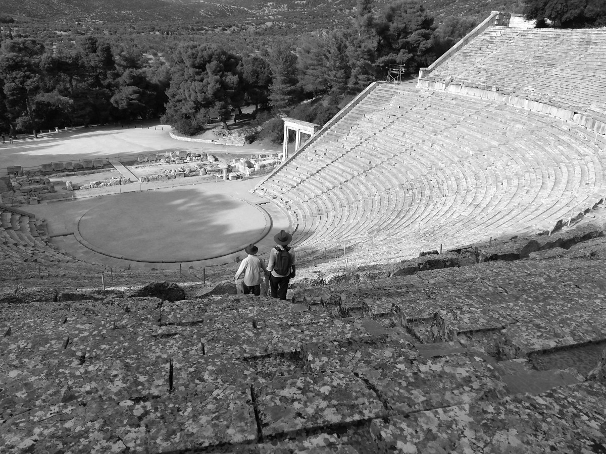 Performances in the Ancient theatre of Epidaurus started in 1954